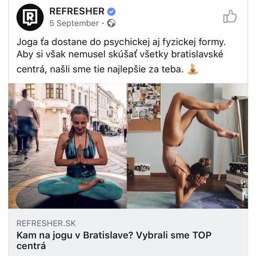 Najlepšia joga v Bratislave by Refresher.sk